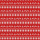 Doberman Pinscher Silhouettes Christmas Sweater Pattern by Jenn Inashvili