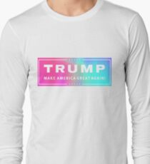 Holographic Trump Logo Long Sleeve T-Shirt