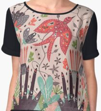 Spring Bird  Women's Chiffon Top