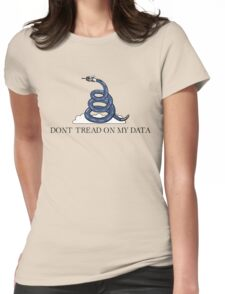 Don't Tread On My Data Womens Fitted T-Shirt