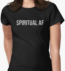 Spiritual A.F. (White Type) - Yoga Wear Women's Fitted T-Shirt