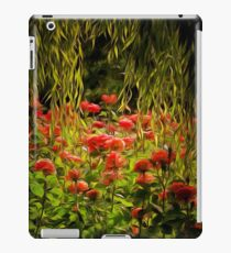 Flowers framed by leaves iPad Case/Skin