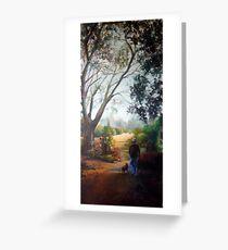 Morning stroll (Werribee-Victoria) Greeting Card