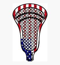Lámina fotográfica Bandera de la cabeza de Lacrosse