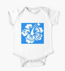 Bright White Hibiscus Kids Clothes