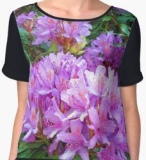 Pink Rhododendron Chiffon Top