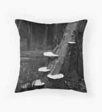 Mushroom Tree Throw Pillow