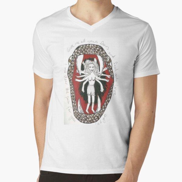 Serpent Girl V-Neck T-Shirt
