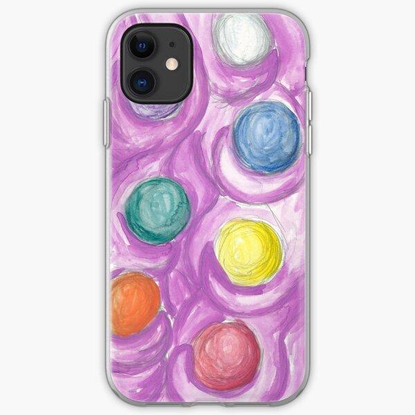 Flow (Soft Circles) iPhone Soft Case