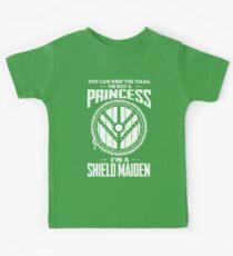 Don't call me a princess - I'm shieldmaiden Kids Tee