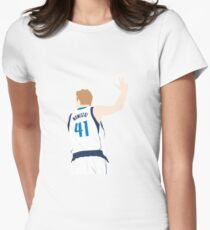 Dirk Nowitzki Womens Fitted T-Shirt