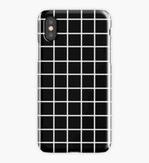 Black Tumblr Grid Pattern iPhone Case