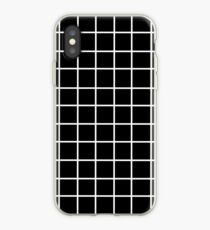 Black Tumblr Grid Pattern iPhone Case