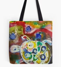 Tortoise with Young Tote Bag