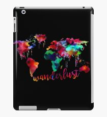 Watercolor Wanderlust World Map  iPad Case/Skin