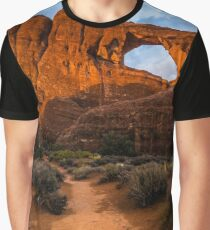 Path To Skyline Arch At Sunset - Utah Graphic T-Shirt