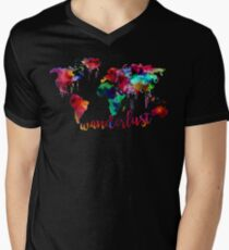 Watercolor Wanderlust World Map  T-Shirt