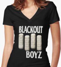 BLACKOUT BOYZ XANAX Women's Fitted V-Neck T-Shirt