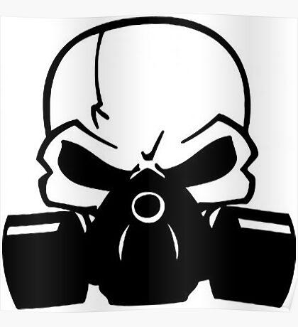 Skull Gasmask Poster