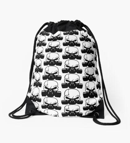 Skull Gasmask Drawstring Bag