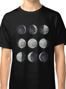 Moon Phases - Watercolor & Ink Classic T-Shirt