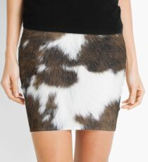 Cowhide Mini Skirt