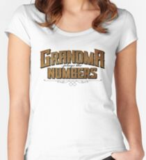 Grandma Plays the Numbers Women's Fitted Scoop T-Shirt