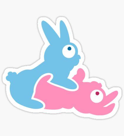 Bunnies making Bunnies VRS2 Sticker
