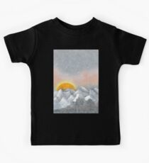 Alone in a Sunrise Snowstorm Kids Tee