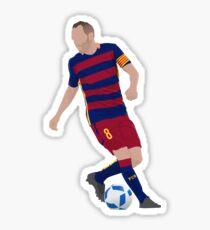 Andres Iniesta Sticker