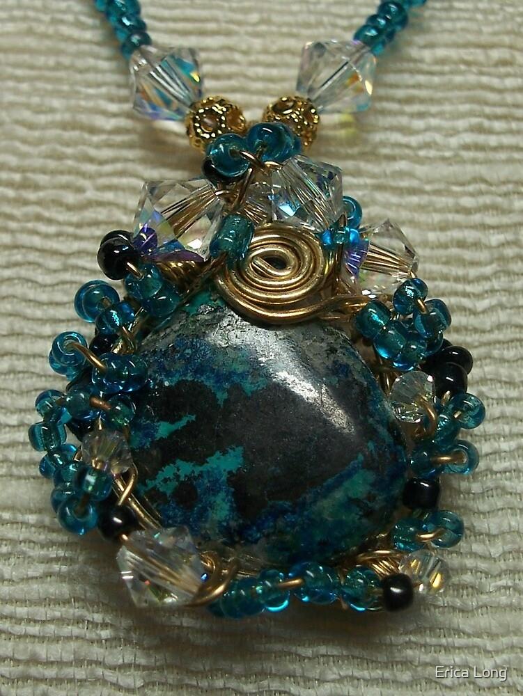 Azurite Malachite Pendant by Erica Long