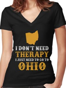Ohio I just need to go to Women's Fitted V-Neck T-Shirt