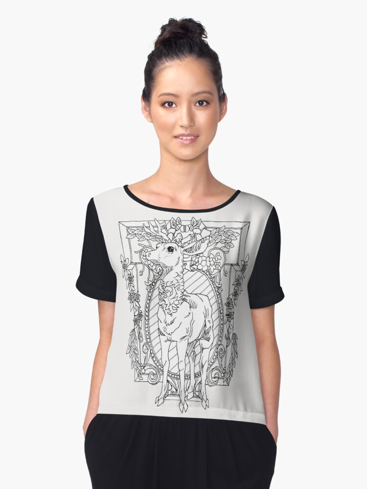 Rival Stag Women's Chiffon Top Front
