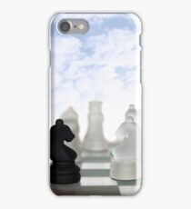 chess pieces isolated against blue sky iPhone Case/Skin