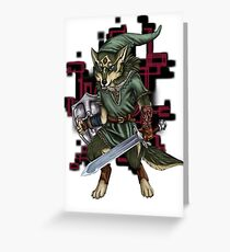 Link Wolf Greeting Card