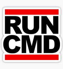 RUN CMD - black version Sticker