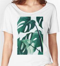 Monstera #redbubble #artprints Women's Relaxed Fit T-Shirt