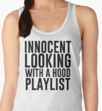 Innocent Looking With A Hood Playlist Women's Tank Top