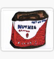 Vintage Nutmeg Container Sticker
