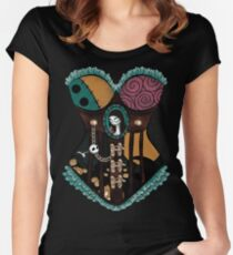 Ragdoll Corset Women's Fitted Scoop T-Shirt