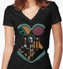 Ragdoll Corset Women's Fitted V-Neck T-Shirt