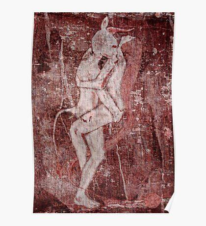 Minotaur and Ariadne Poster