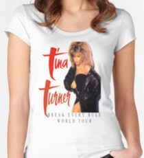 Tina Turner - World Tour - Reproduction Concert Tee 1987 Women's Fitted Scoop T-Shirt