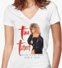 Tina Turner - World Tour - Reproduction Concert Tee 1987 Women's Fitted V-Neck T-Shirt