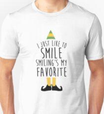Smiling's my Favorite - Elf T-Shirt