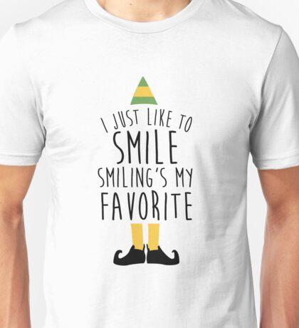 Smiling's my Favorite - Elf Unisex T-Shirt