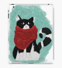 Cute Cozy Black and White Cat iPad Case/Skin