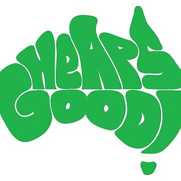 Heaps Good Green by Decibel Clothing by DecibelAdelaide