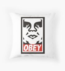 Obey The Giant Throw Pillow