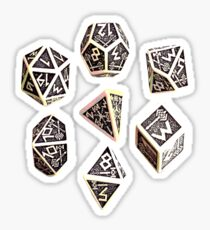 dungeons and dragons dice game shirt Sticker